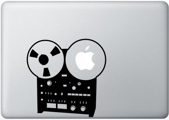 Reel to Reel, old school music DECAL- macbook iPad computer- vinyl sticker