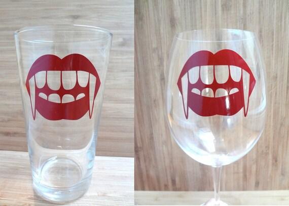 12 Vampire Teeth waterproof vinyl decals - funny lips, halloween party, gothic, spooky stickers