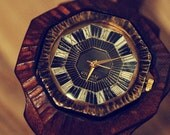 Vintage Retro Steampunk Handcraft Watch. Handstitch Leather Band ///  D minor - Perfect Gift for Birthday and Anniversary