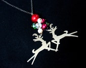 Magical Reindeer Necklace, Christmas necklace, merry x'mas gifts, swarovski elements