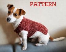 Crochet Pattern, Crochet  Dog Sweater Pattern, Dog Clothes Pattern
