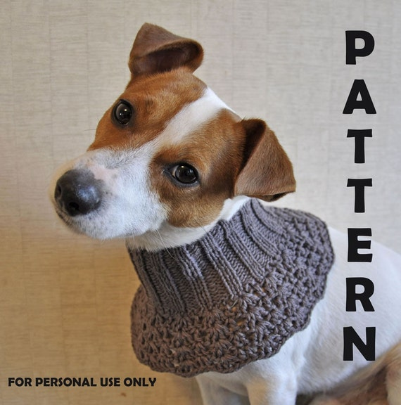 Dog Cowl Knitting Pattern : Items similar to Knitted and Crochet Brown Dog Cowl PATTERN / PDF format Patt...