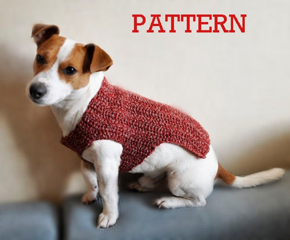 Crochet Pattern, Crochet Dog Sweater Pattern, Dog Clothes Pattern