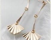 on sale - Spear Earrings , long earings, gold