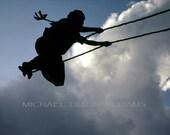 Small Nepali Girl Swinging At The Festival, Ultrachrome K3 Archival Print