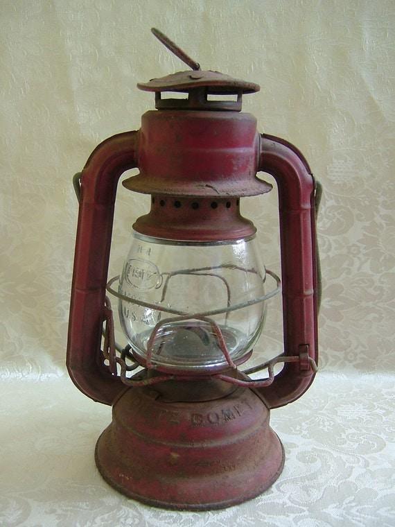 Vintage Red Dietz Comet Lantern