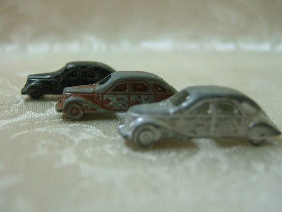 Vintage Tiny Metal Diecast Cars
