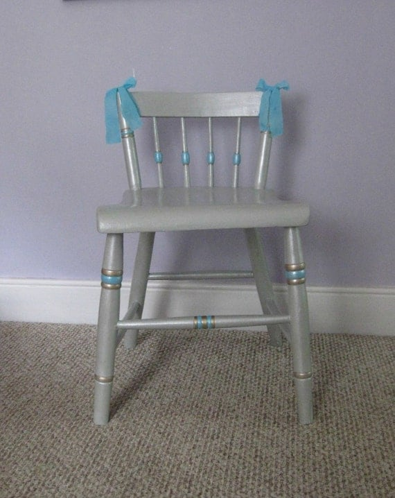 Gray Painted Vanity Chair By Fairyhome On Etsy