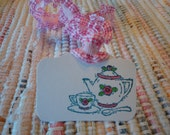 Tea Party Tags  Set of 8