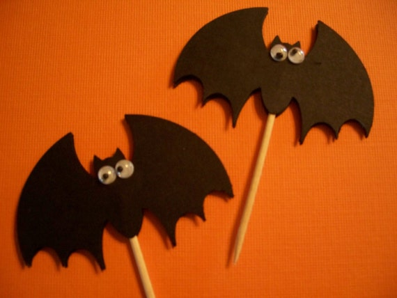"Cupcake Toppers ""Silly Bats"" Set of 12"