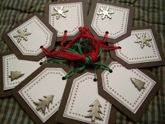 Christmas mini tags  set of 8