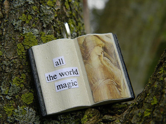 All the World, Magic -- Book Glamourkin Pendant