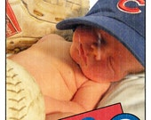 Baseball card birth announcement (Printable file)