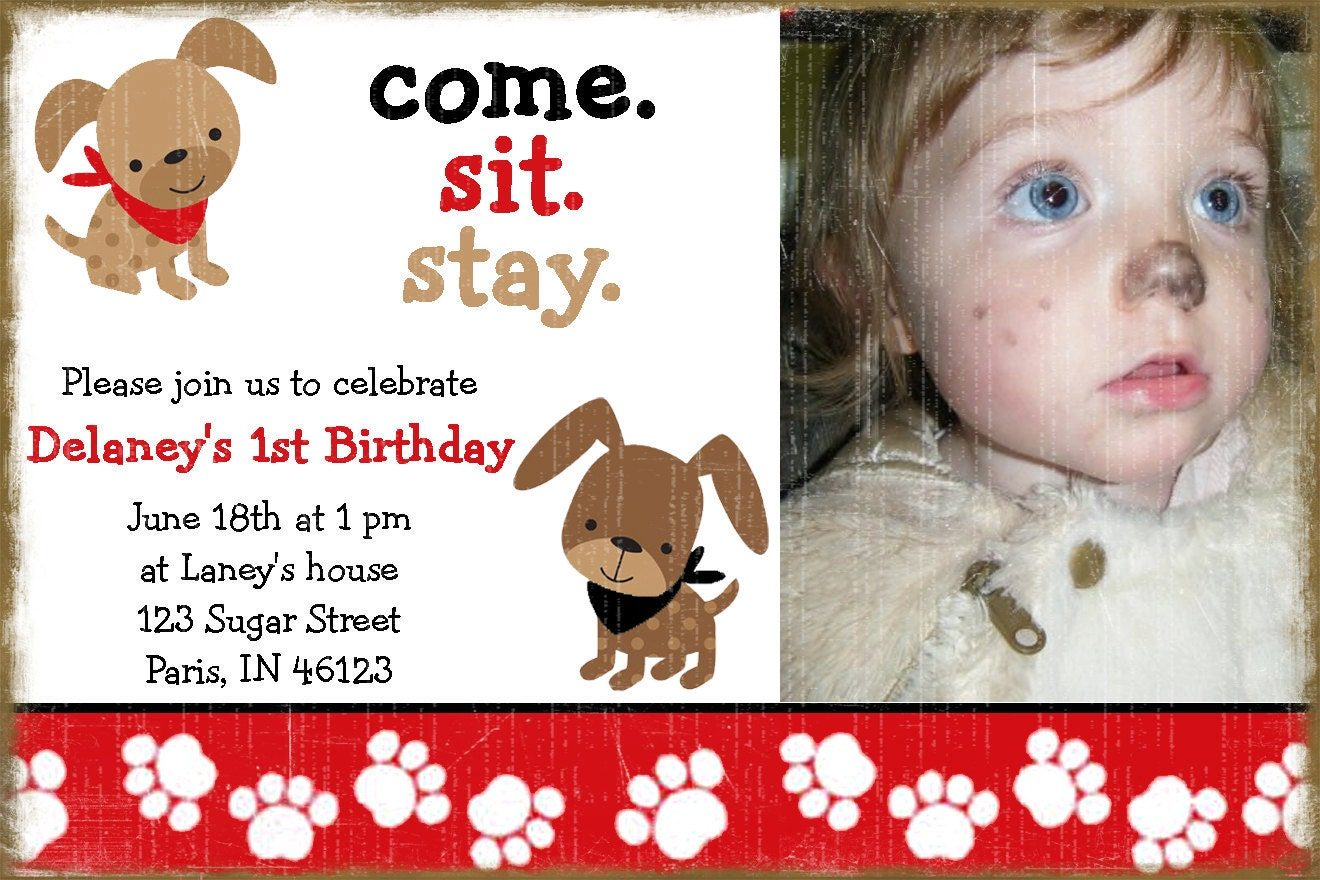 Puppy Birthday Invitations for your inspiration to make invitation template look beautiful
