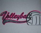 Volleyball Sports Title Scrapbooking Diecut