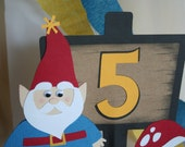 Birthday Cake Topper - Gnome Personalized