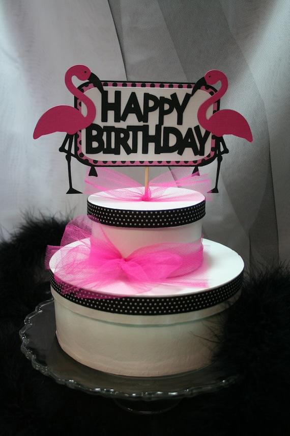 Flamingo Birthday Cake Topper