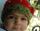 They Are Pretty Sweet as Strawberry Beanie for Daughters- 1-2 years