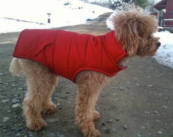 "Custom Dog Coats, ""Billy"" Dog Coat, Warm, Waterproof & Puffed, Custom Order"