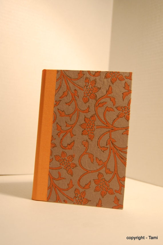 Journal with Fabriano paper, hand made, hard back, covered with papaya vine paper from India