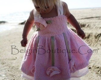 Boutique Pageant casual Wear Shabby Chic Rose Chenille Custom 3/6m 9m 12m 18m 2T 3T 4 5 6 7 8 9 10