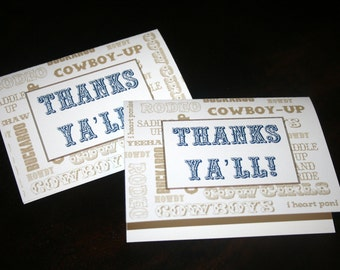 Printable Western Thank You Cards