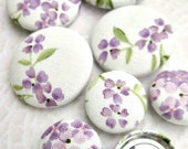 SALE- SWEET Lilac-set of 8 fabric covered BUTTONS-d a r l i n g