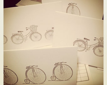 Bicycle Stationary // Handmade // Vintage Style Bikes // Stationery