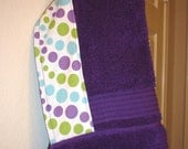 Free Shipping- Double Bubble Purple Hooded Bath Towel For Toddler And Young Children