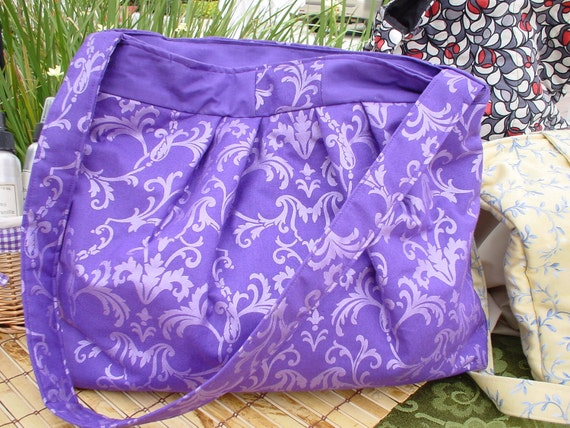 Clearance- Large Hobo diaper Bag Purse Royal Purple