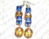 Glass Earrings, Dangle Earrings, Sparkle Jewelry