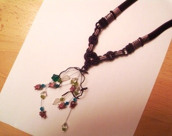 origami lotus flower necklace