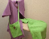 Bag 1, 2, 3 years Bamboo Cotton knitted summer hand made baby girl toddler pouch
