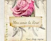 Vintage Mon Amie la Rose Etsy Shop Banner Set