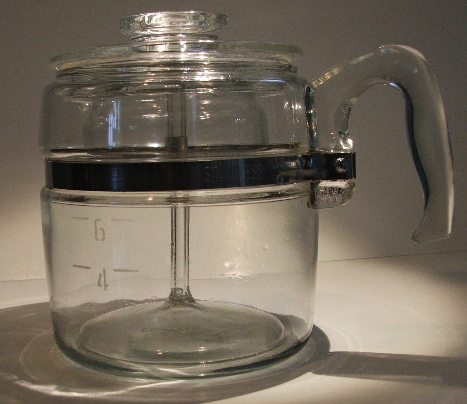 Pyrex Coffee Maker How To Use : vintage Pyrex coffee pot 6 cup 7756-B complete