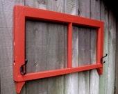 Vintage Wood Window Decorative Rack