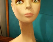 Vintage Long-Neck Female Mannequin Head