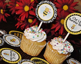 PRINTABLE PARTY CIRCLES Damask Bumble Bee Party Collection - Memorable Moments Studio
