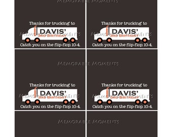 PRINTABLE CANDY BAG labels Little Trucker Collection - Memorable Moments Studio