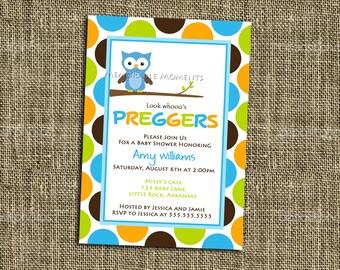 PRINTABLE INVITATIONS Owl Preggers Shower Invitation - Custom Printable - Memorable Moments Studio