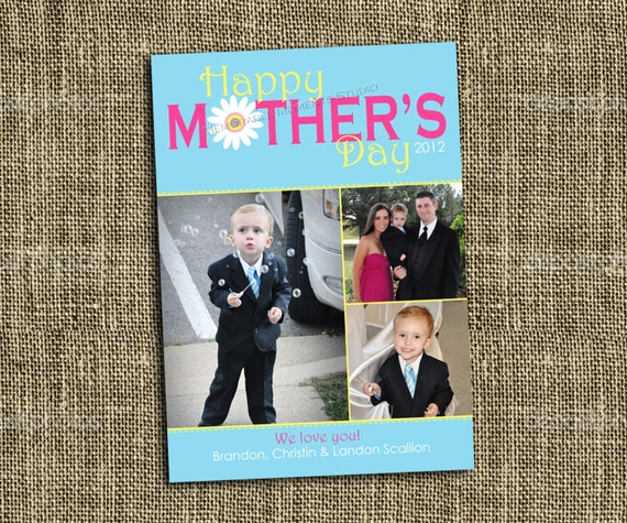 PRINTABLE Mother's Day Photo Card - includes 1 or 3 photos - Memorable Moments
