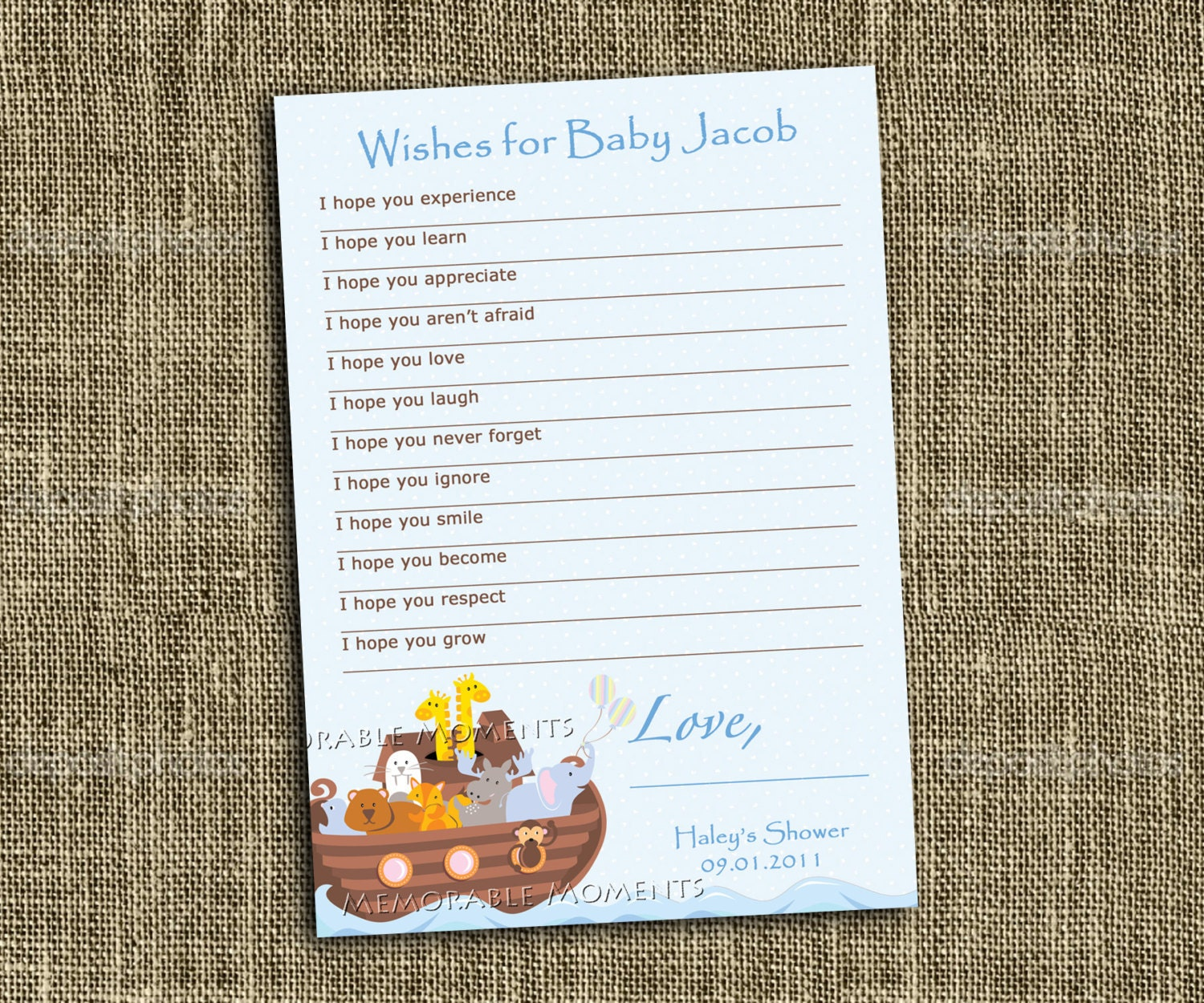 printable wish list noah 39 s ark baby shower collection