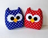 4th of July mini owls