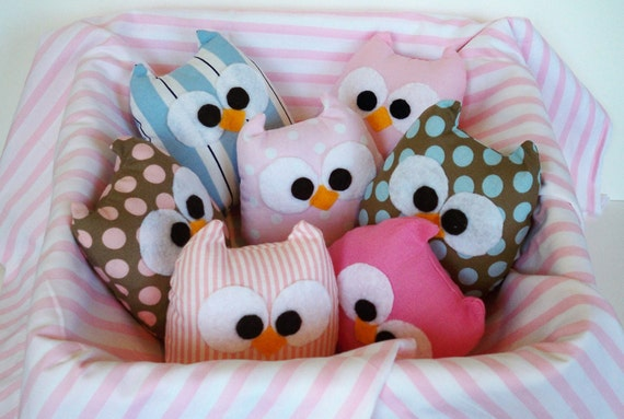 4 lovely mini owls, choose any one you want