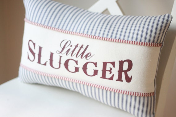 "Baseball ""Little Slugger"" pillow"