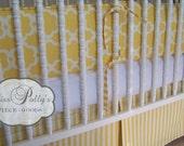 Custom Baby Crib Bedding- Design Your Own- Taza in Yellow
