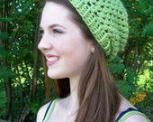 Slight Slouch Hat PDF Crochet Pattern - Adult Slouchy Beanie