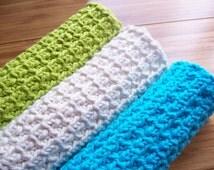 Little Knots Luxurious Spa Cloth Exfoliating Washcloth Crochet Pattern PDF
