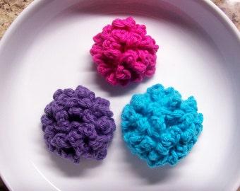 Crochet Button Mum Flower PDF Pattern for Hat Headband Brooch 3 Sizes