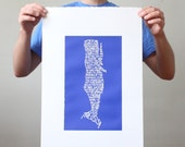 Moby Dick Print - Screen Printed Poster
